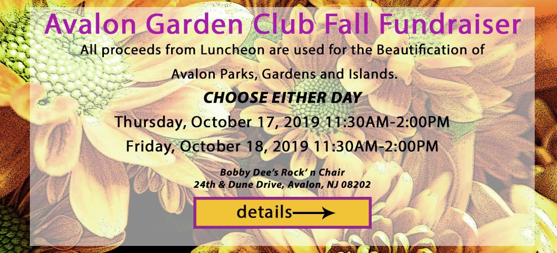 Avalon Garden Club Fall Fundraiser