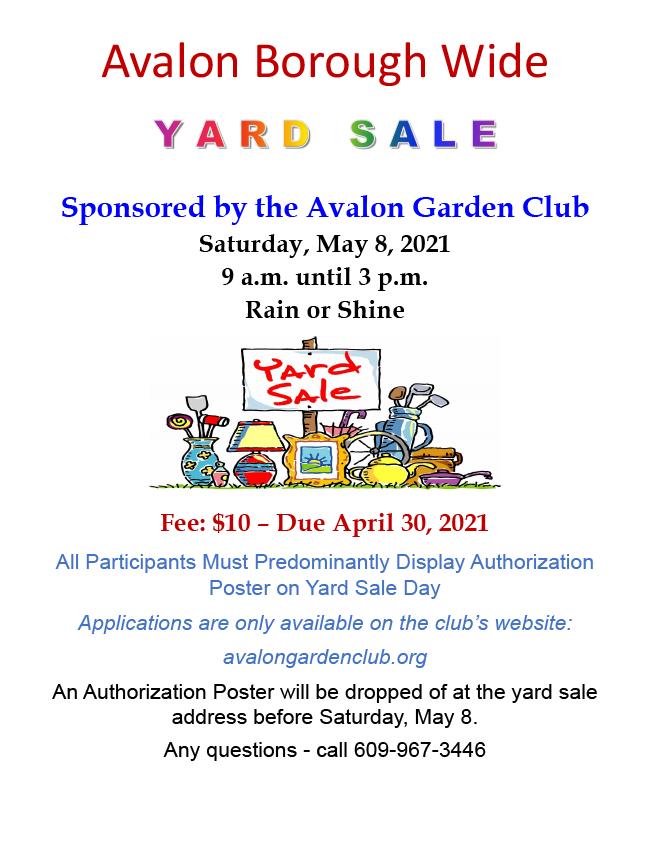Yard Sale Boro-Wide Promo Flyer